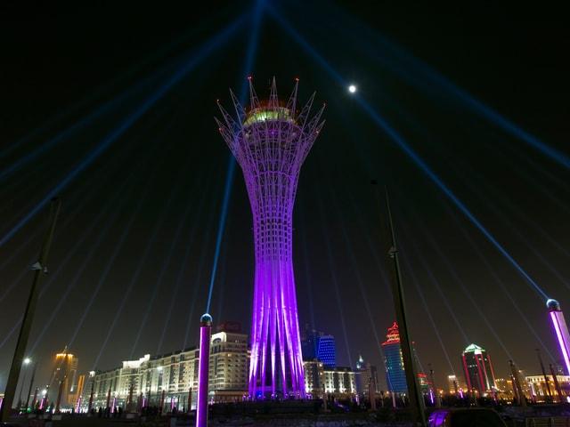 Der Bajeterek-Turm in einer Aufnahme von 2013