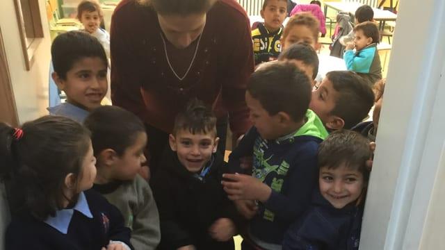 Syrische Flüchtlingskinder in einer libanesischen Schule.