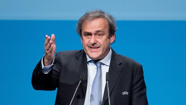 Il president da la UEFA Michel Platini.