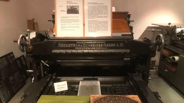 Maschina da stampar veglia.