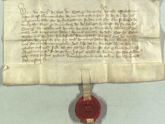 Urkunde aus dem Jahr 1387