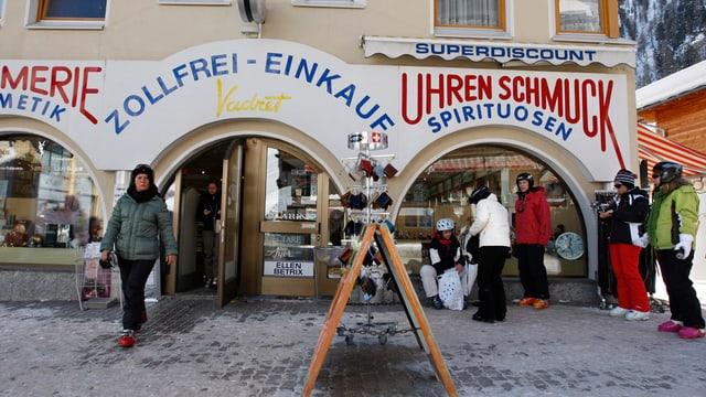 Geschäfte in Samnaun