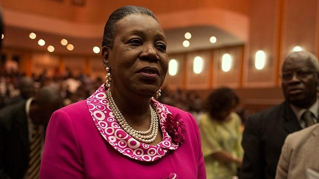 Samba-Panza im Parlamentssaal bei ihrer Wahl.