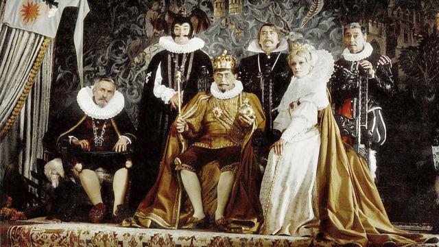 Ein Gruppenfoto mit den Protagonisten der Reihe «Die Märchenbraut».