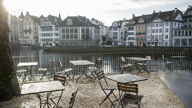 Das Cafe Mill`Feuille am Muehlenplatz.