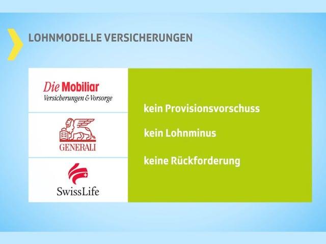 Logos von drei Versicherungen