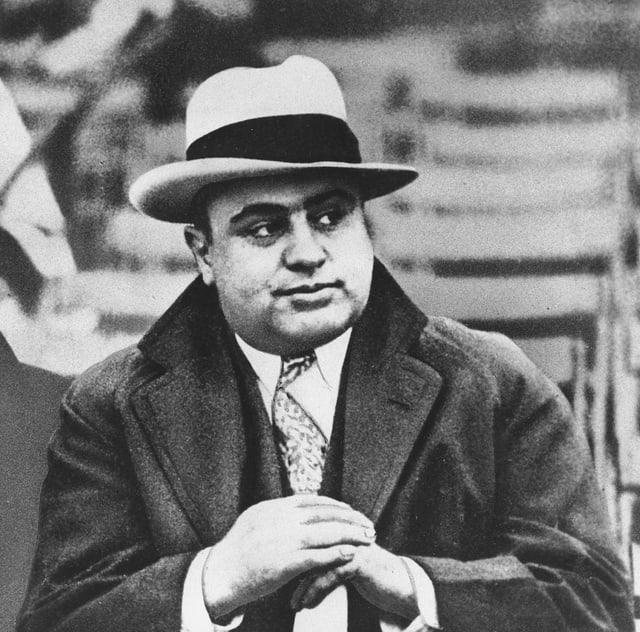 Porträt von Al Capone.