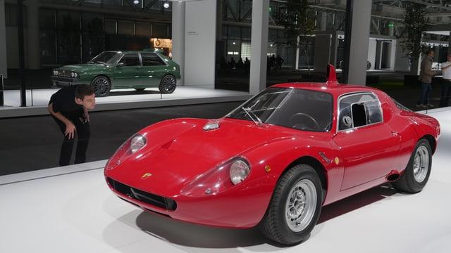 roter Ferrari-Oldtimer