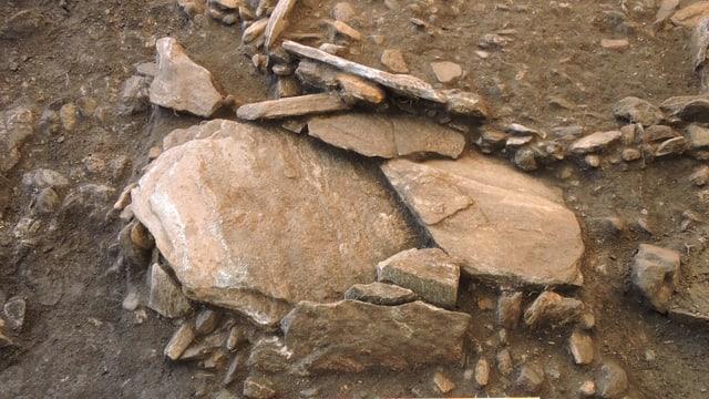 Überreste eines Grabes aus dem vierten Jahrhundert.