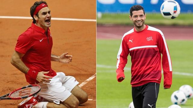 Federer und Dzemaili