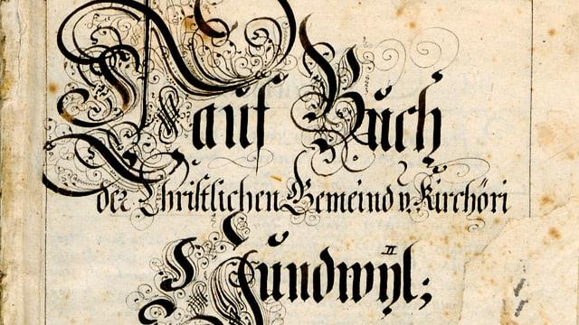 Taufbuch von Hundwil