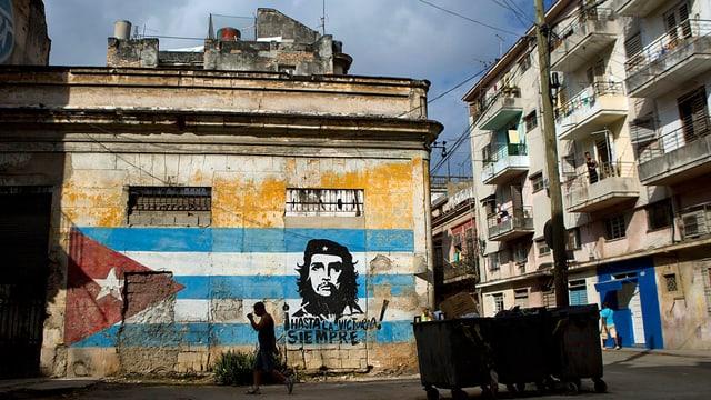 Che-Graffiti an einer Wand