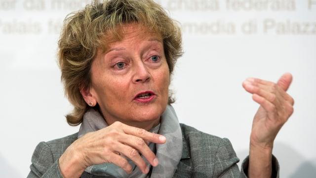 La ministra da finanzas, Eveline Widmer-Schlumpf.