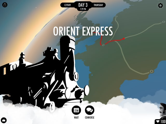 Der Orientexpress verlässt Paris.