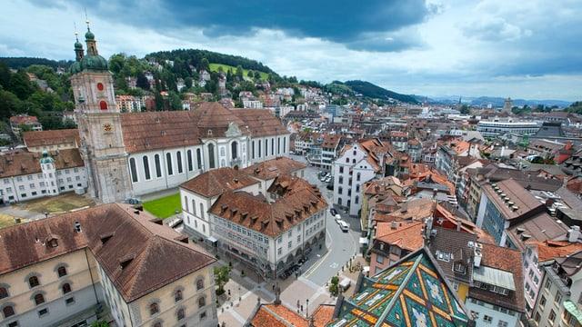 Ein Blick auf das Klosterareal in St. Gallen.