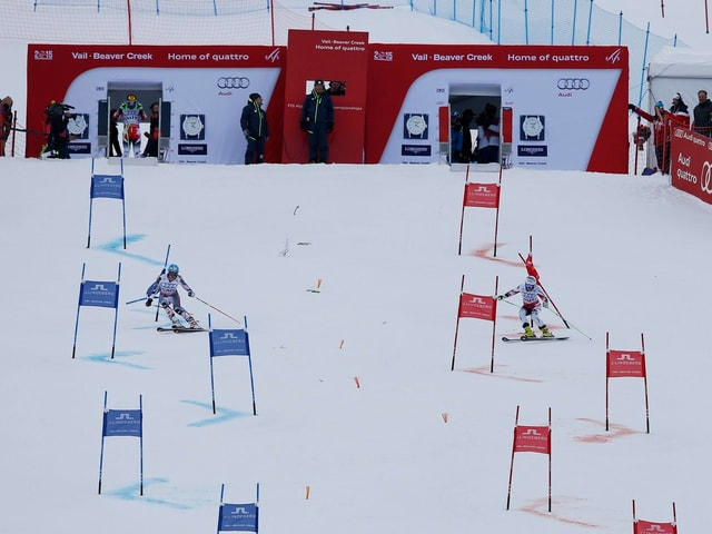 Team-Wettkampf im Ski Alpin.