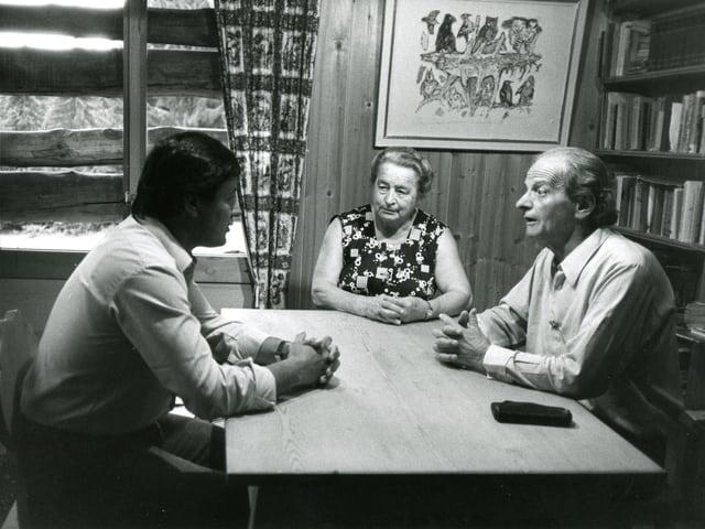 Intervistas cun Ernst Denoth, per il film «Il barun da Planatsch».