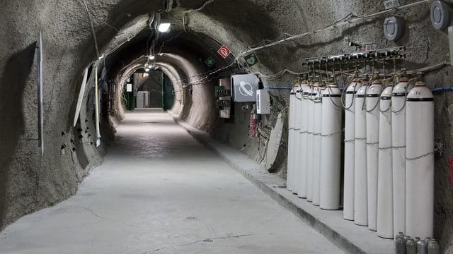 Ein Tunnel im Felslabor Mont Terri.