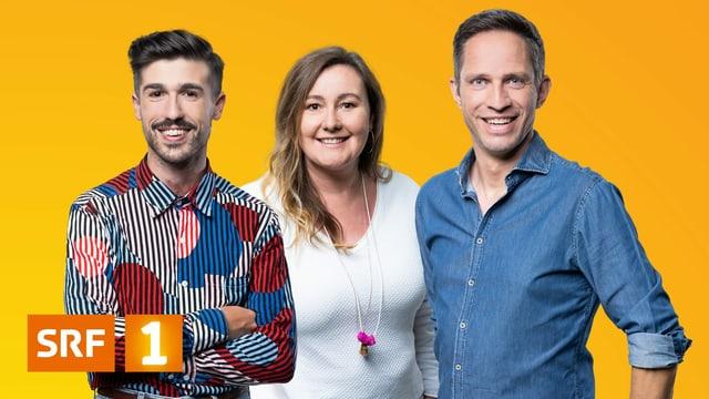 «Eins für d Familie» mit Gabriel Crucitti (links), Christina Lang und Adrian Küpfer.