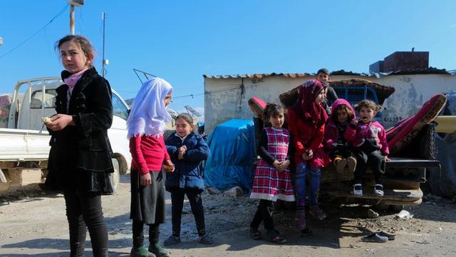 Kinder im Flüchtlingslager.
