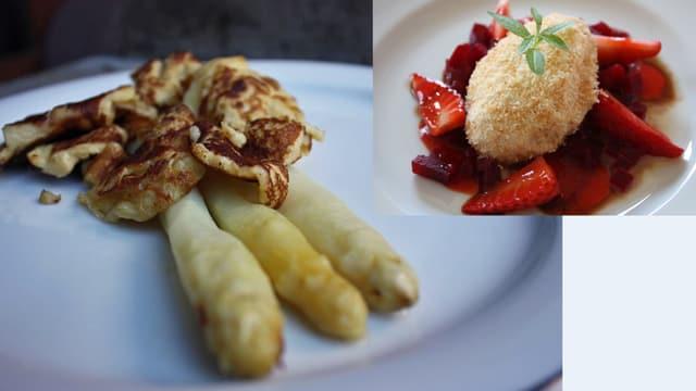 Badische Kratzete & Ricolaflocken mit Randen und Erdbeer