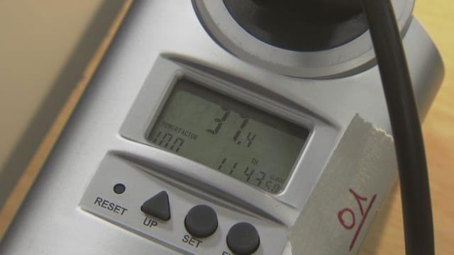 Display eines Energie-Messgerätes