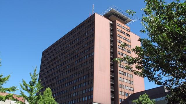 Kantonsspital Luzern - braunes Hochhaus.