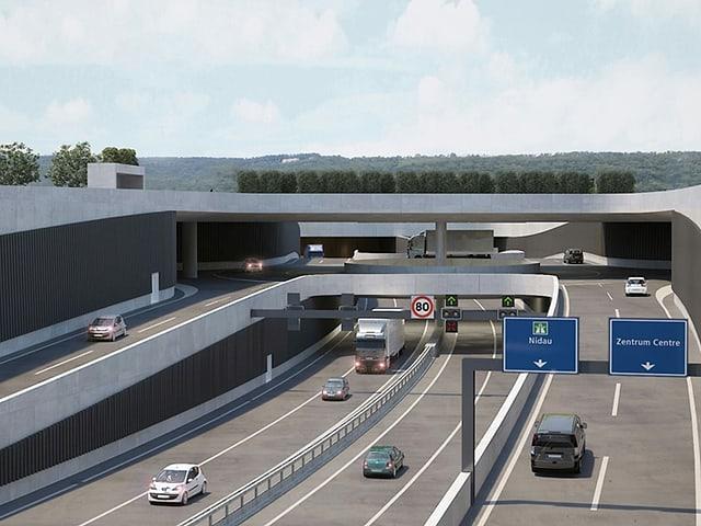 Visualisierung Autobahn