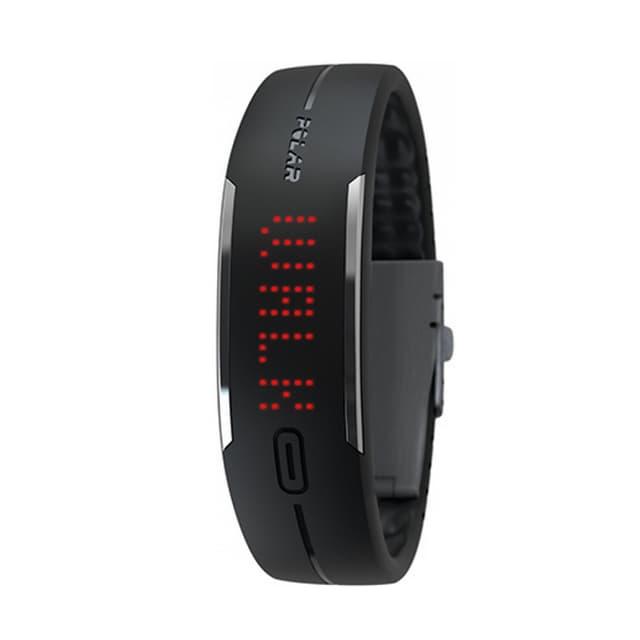 Elegantes schwarzes Armband mit futuristisch anmutendem Display