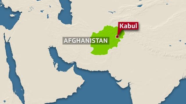 Karte Kabul.