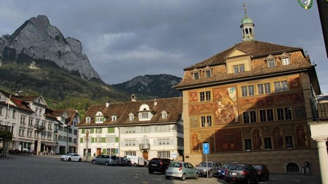 Blick auf das Rathaus in Schwyz