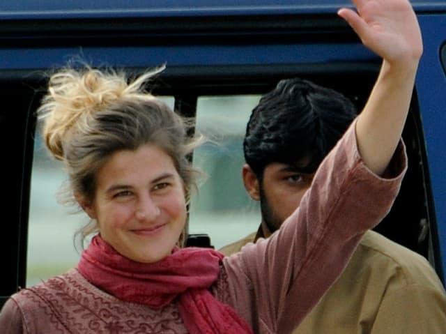 Daniela Widmer kurz nach ihrer Befreiung am 15. März 2012