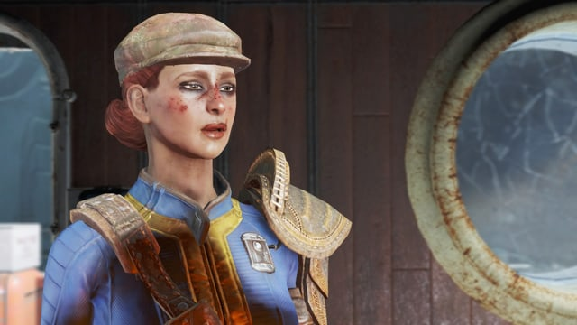 Frau in adretter Rothaarfrisur und mit Flat Cap.