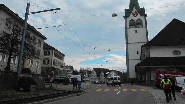 Das Dorfzentrum von Teufen