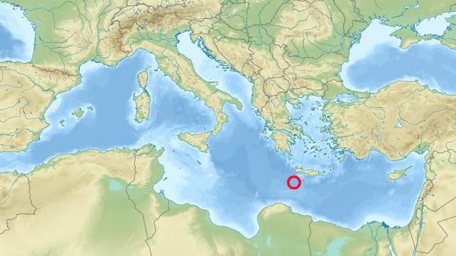 Beben vor Kreta (Karte)