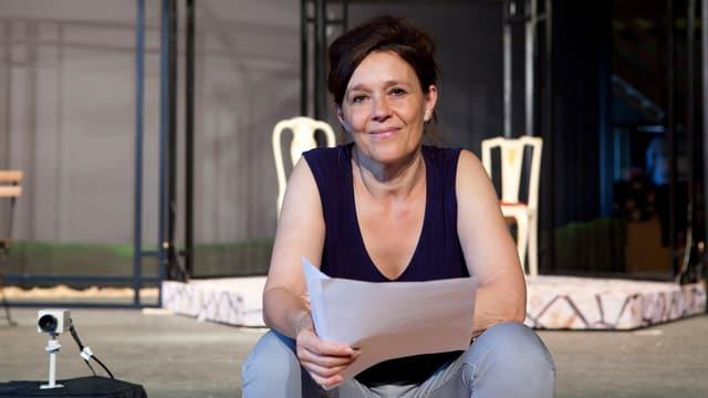 Bettina Dieterle auf der Bühne.