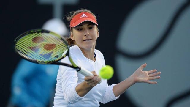 Belinda Bencic in Aktion