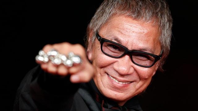 Ein Portrait des japanischen Regisseurs Miike Takashi.