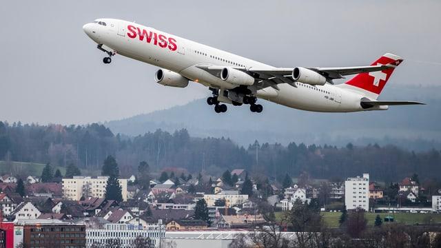 Swiss-Flugzeug startet