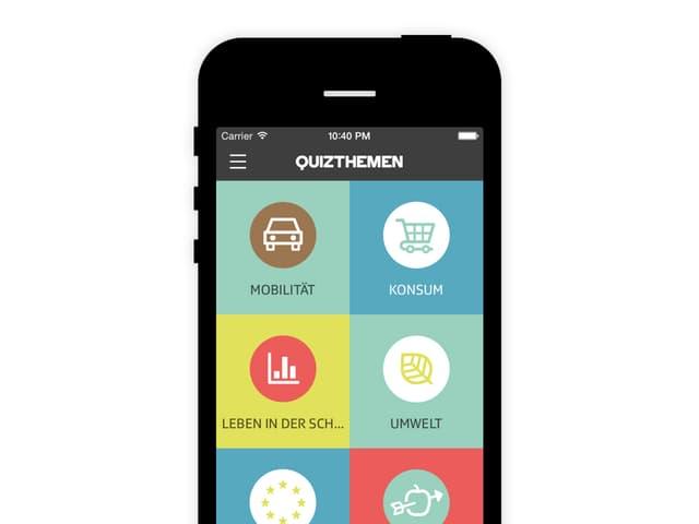 Themenübersicht in der politbox-App.