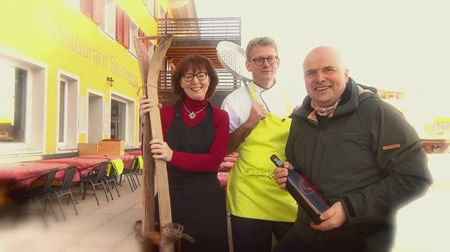 Video «Skihütten Spezial – Tag 3 – Restaurant Sternegg, Stoos» abspielen