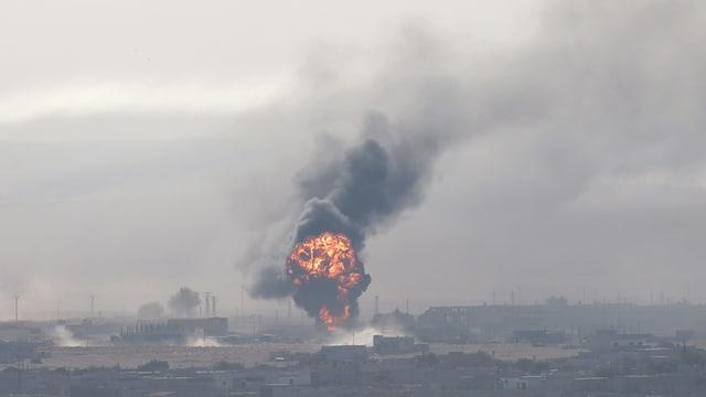 Rauch nach Explosion.