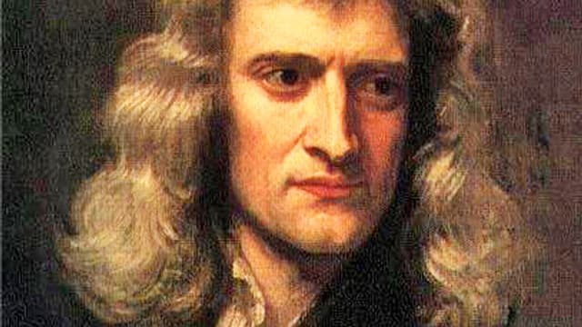 Isaac Newton im Porträt.