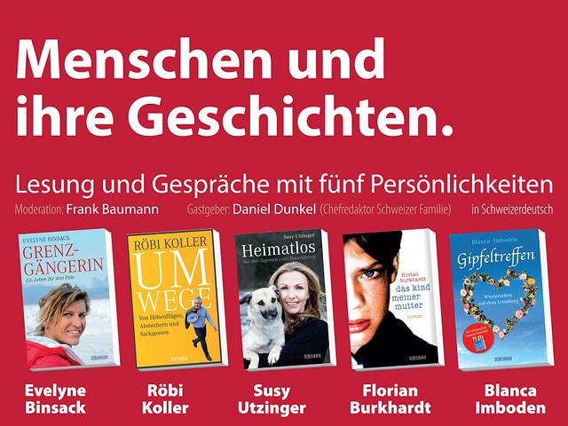 Die Buchcovers der fünf Schriftsteller