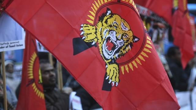 Fahne der Tamil Tigers