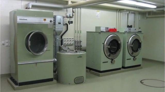 Industriewaschmaschinen.
