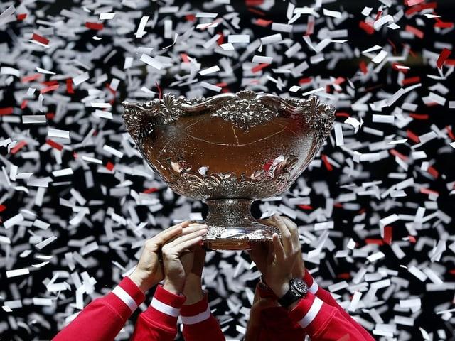 Die Davis-Cup-Trophäe.