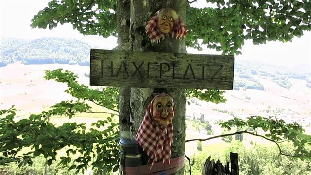 Schild beim Häxeplatz