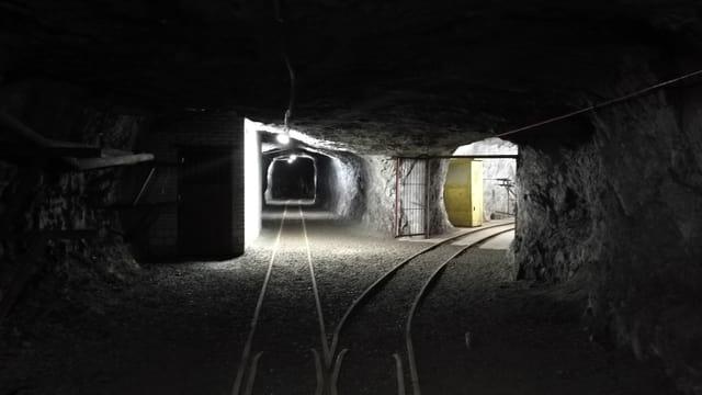 Miniera dal Gonzen cun dus tunnels cun rodaglias.