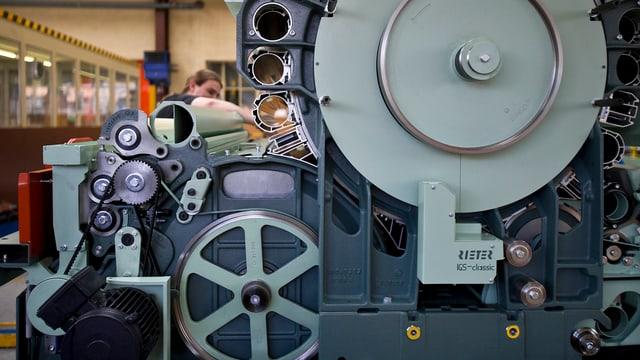 Maschine der Rieter Fabrik in Winterthur.